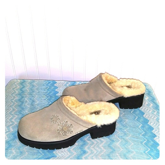UGG Shoes - Uggs taupe clogs. Size 8